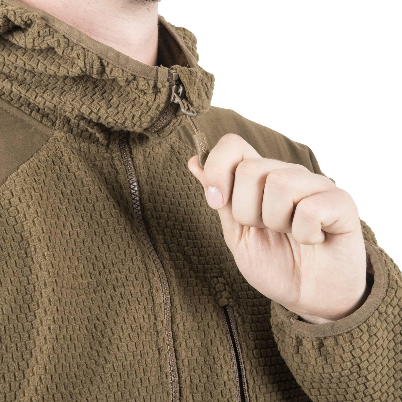 Bluza ALPHA HOODIE - Grid Fleece Detal 8