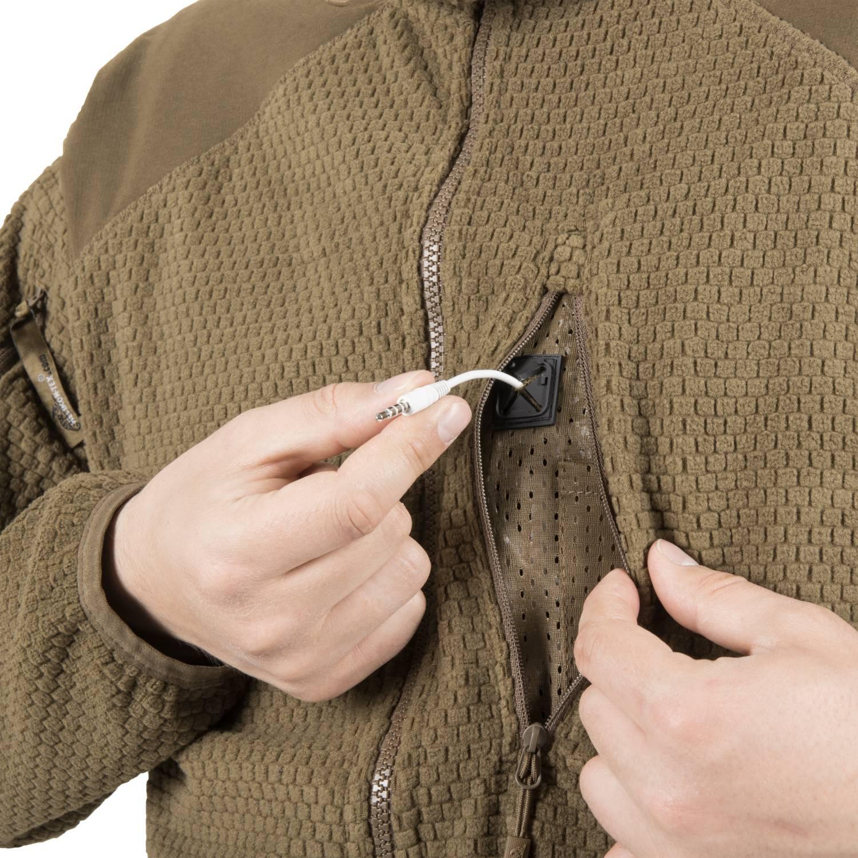 Bluza ALPHA HOODIE - Grid Fleece Detal 10