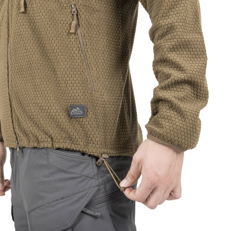 Bluza ALPHA HOODIE - Grid Fleece Detal 14