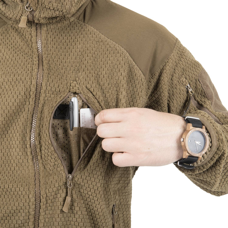 Bluza ALPHA HOODIE - Grid Fleece Detal 15