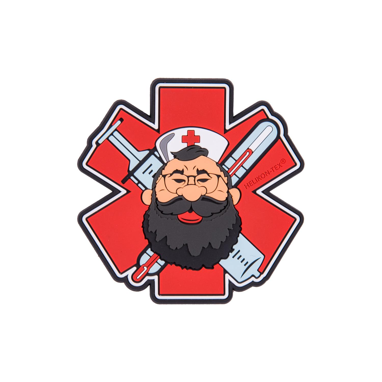 "Emblemat ""Beardman MEDIC"" - PVC Detal 2"