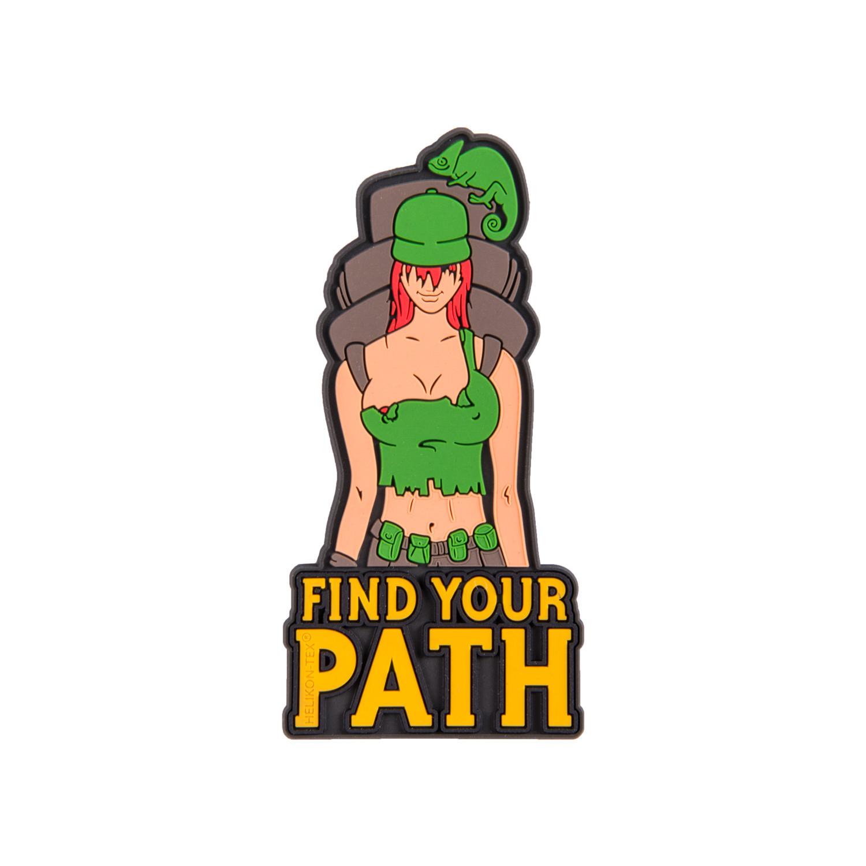 """Emblemat """"Find Your Path"""" - PVC Detal 2"""
