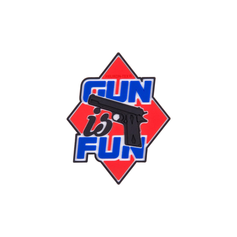 "Emblemat ""Gun is Fun"" - PVC Detal 2"