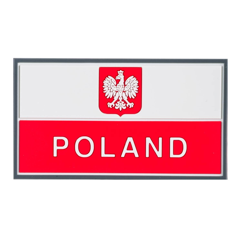 Emblemat Flaga PL z godłem (90 x 50 mm) Detal 2
