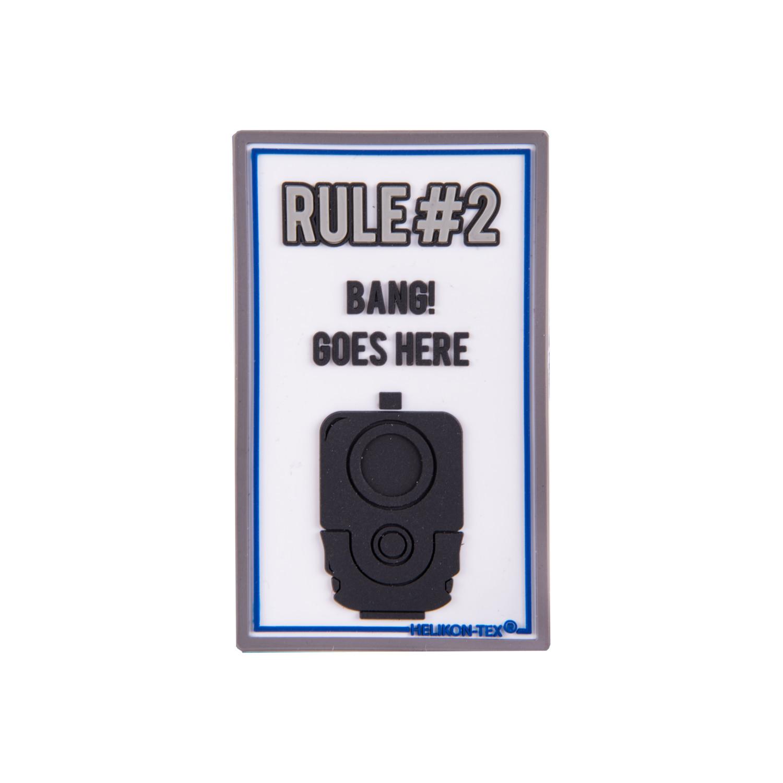 """Emblemat """"Rule#2"""" - PVC Detal 2"""