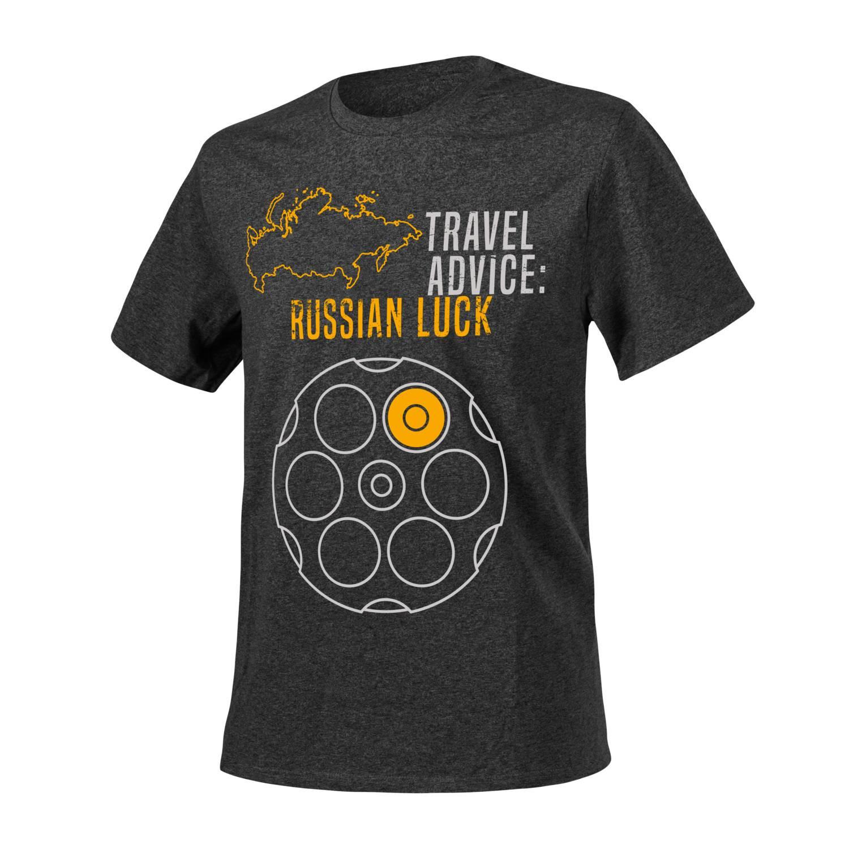 T-Shirt (Travel Advice: Russian Luck) Detal 2