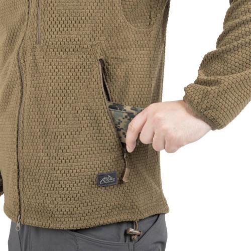 Bluza ALPHA HOODIE - Grid Fleece Detal 13