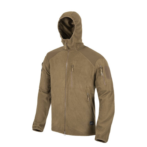 Bluza ALPHA HOODIE - Grid Fleece Detal 5