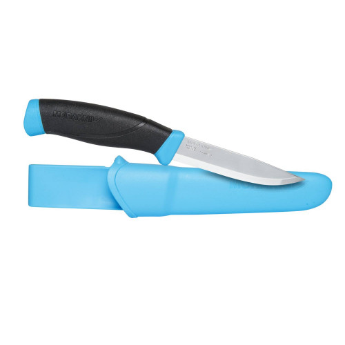 Nóż Morakniv® Companion Blue - Stainless Steel Detal 1