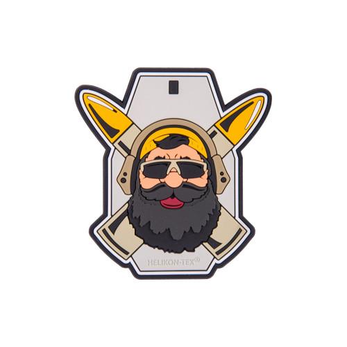"""Emblemat """"Beardman RANGE"""" - PVC Detal 1"""