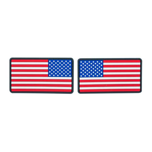 Emblemat FLAGA USA Duża  (komplet - 2szt.) - PVC Detal 1