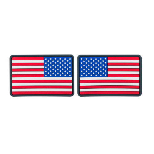 Emblemat FLAGA USA Mała  (komplet - 2szt.) - PVC Detal 1