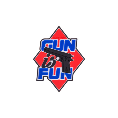 "Emblemat ""Gun is Fun"" - PVC Detal 1"