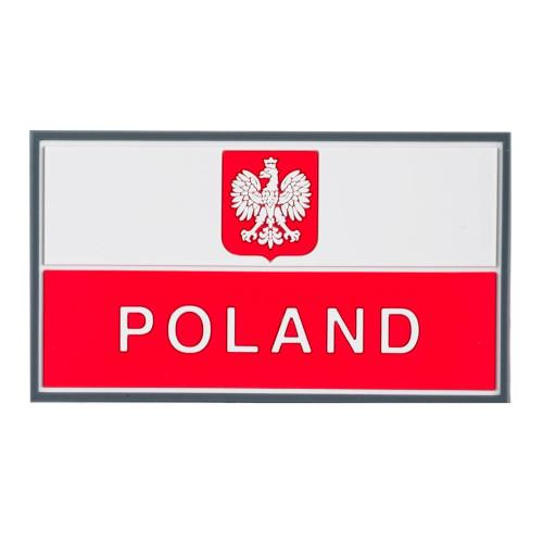 Emblemat Flaga PL z godłem (90 x 50 mm) Detal 1