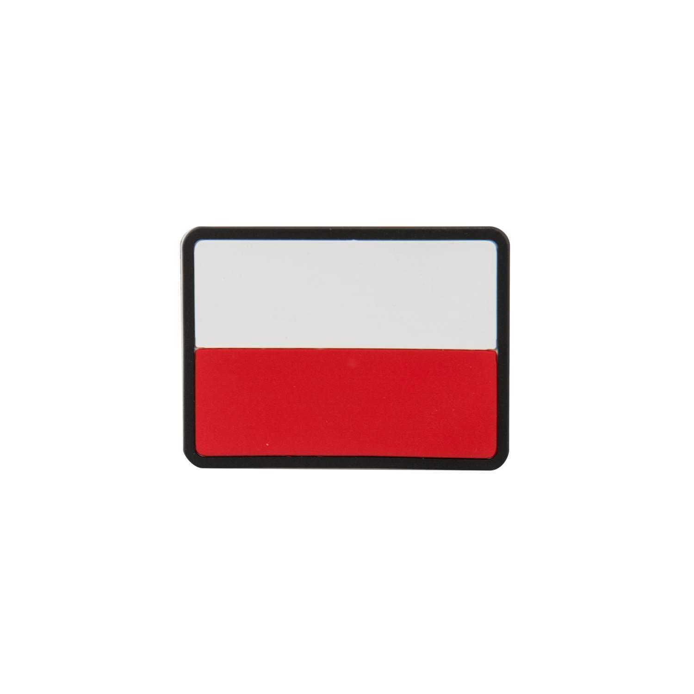 Emblemat FLAGA PL - Biały