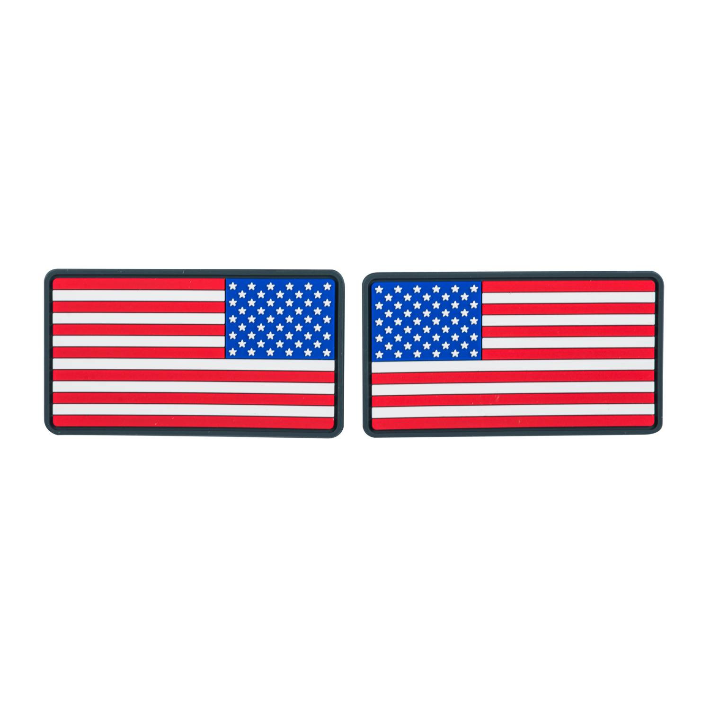 Emblemat FLAGA USA Duża  (komplet - 2szt.) - PVC