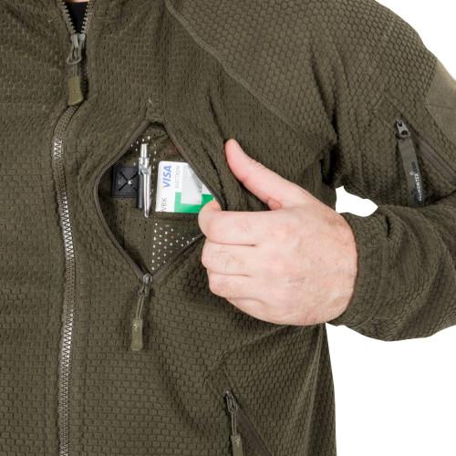 ALPHA TACTICAL Jacket - Grid Fleece Detail 5