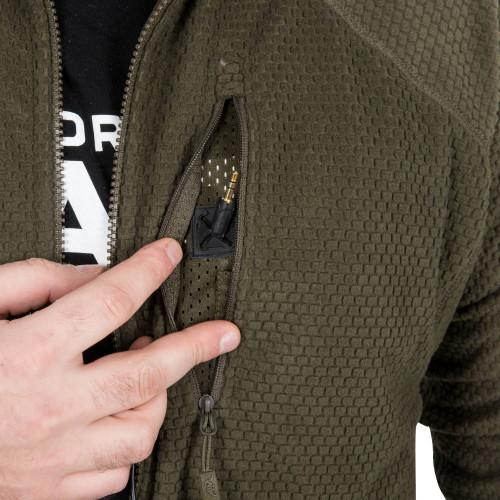 ALPHA TACTICAL Jacket - Grid Fleece Detail 10