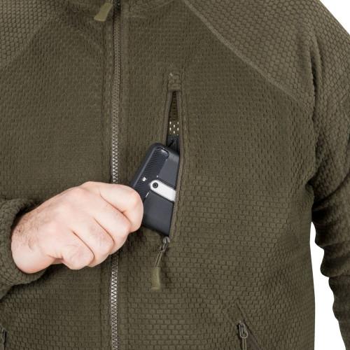 ALPHA TACTICAL Jacket - Grid Fleece Detail 11