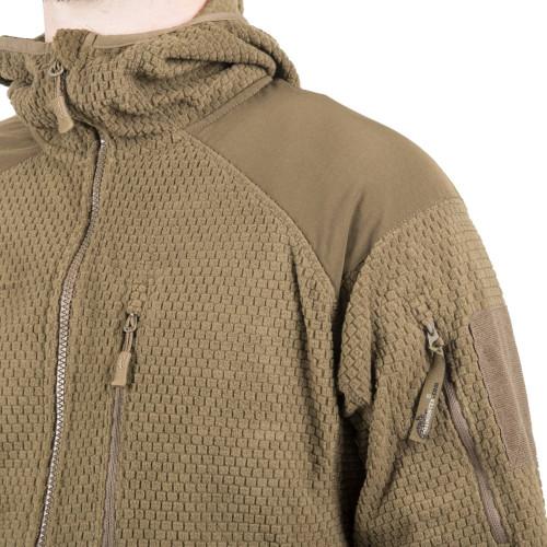 ALPHA HOODIE Jacket - Grid Fleece Detail 7