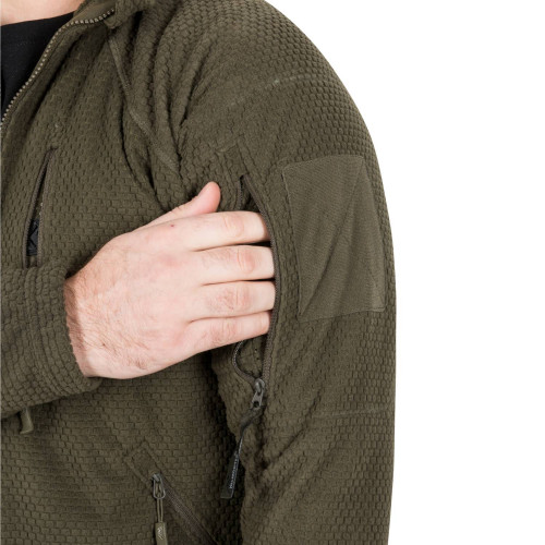 ALPHA TACTICAL Jacket - Grid Fleece Detail 9