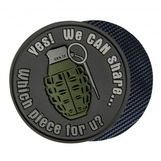 "Emblemat Granat ""WE CAN SHARE"" - PVC"