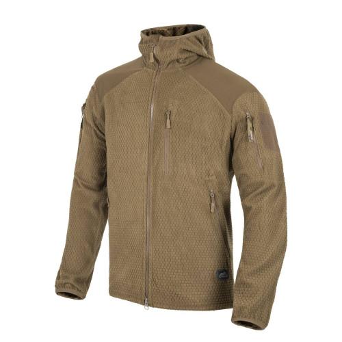 ALPHA HOODIE Jacket - Grid Fleece Detail 1