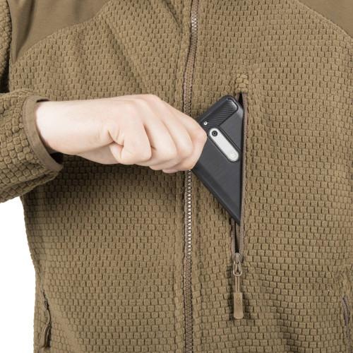 ALPHA HOODIE Jacket - Grid Fleece Detail 9