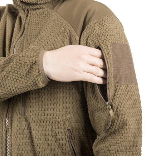 ALPHA HOODIE Jacket - Grid Fleece Detail 11